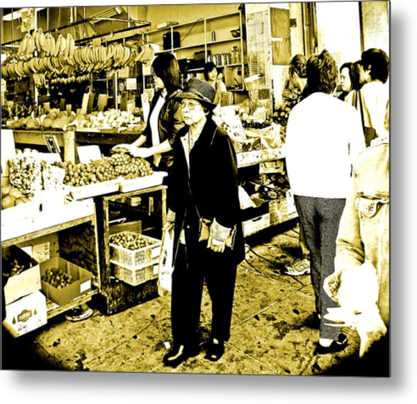 China Town Marketplace Metal Print