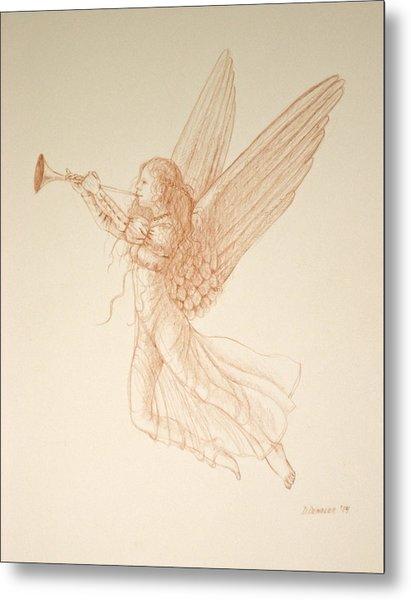 Angel With Trumpet Metal Print