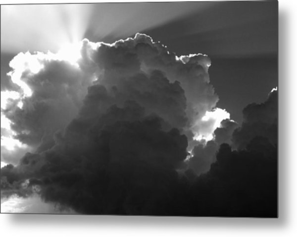 Clouds 1 Bw Metal Print by Maxwell Amaro