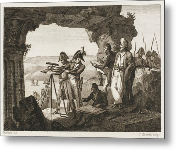 Comte Andreossi Surveys  Antique Sites Metal Print by Mary Evans Picture Library