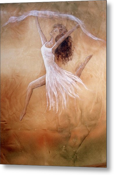 Dancer Leap In Double Attitude Metal Print