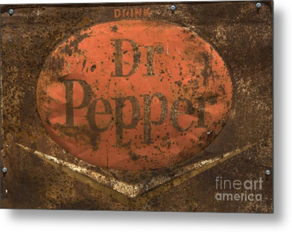 Dr Pepper Vintage Sign Metal Print