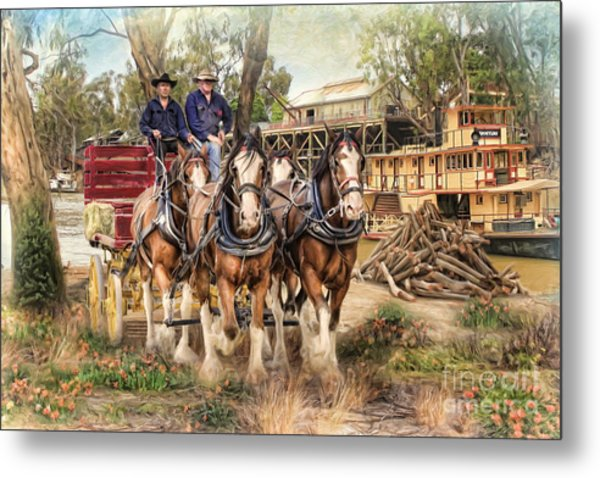 Driving The Murray Metal Print