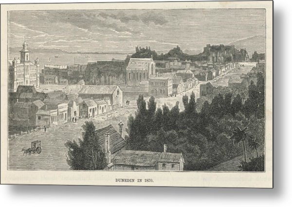 Dunedin  General View        Date 1870 Metal Print by Mary Evans Picture Library