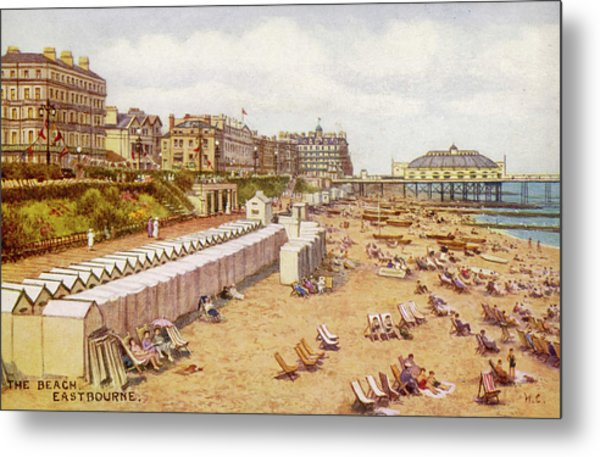 Eastbourne, Sussex A View Metal Print by Mary Evans Picture Library