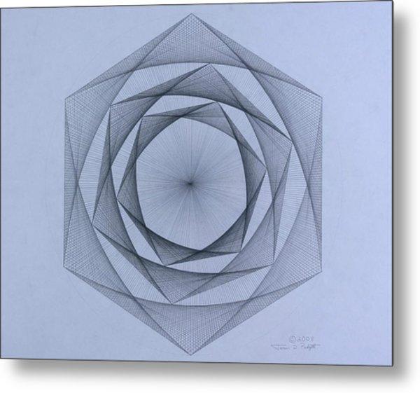 Energy Spiral Metal Print