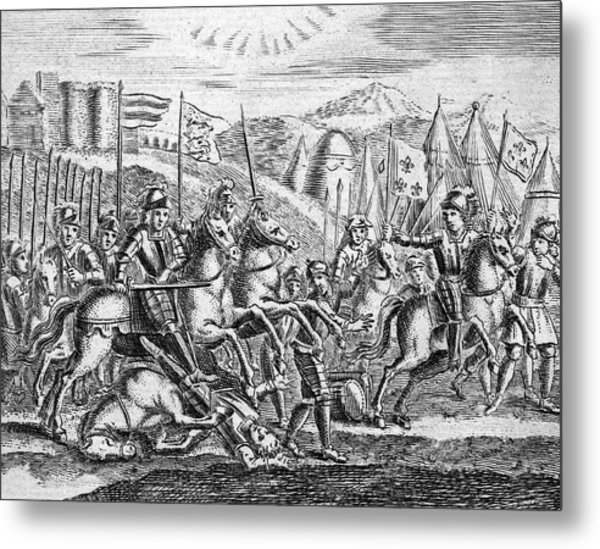 English Soldiers Under Edward  IIi Metal Print by Mary Evans Picture Library