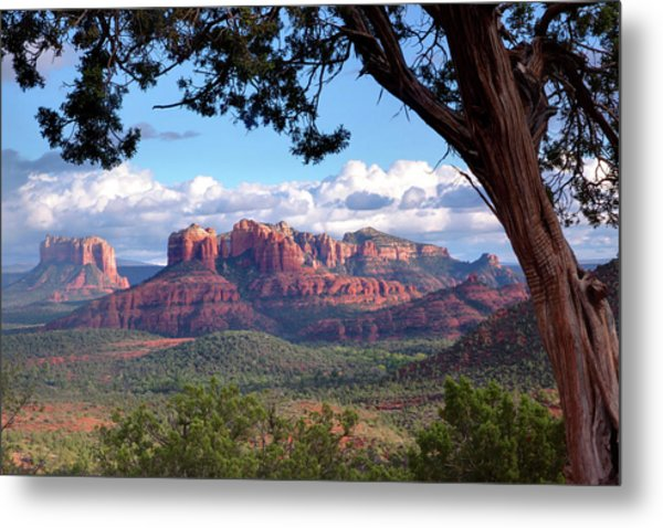 Evening Sky Red Rocks Metal Print