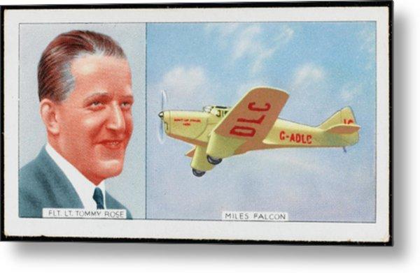 Flight Lieutenant Thomas Rose Metal Print