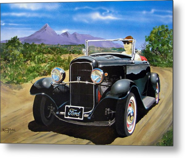 Ford Roadster Highboy Metal Print