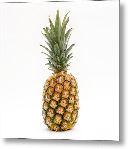 Fresh Pineapple Metal Print