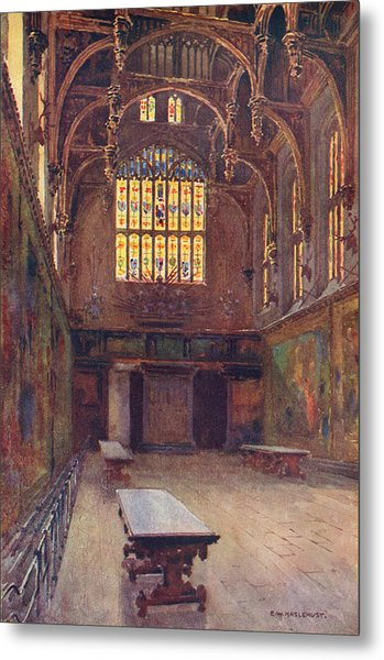 Hampton Court The Great Hall Metal Print by Mary Evans Picture Library