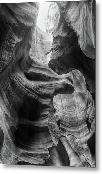 Heavenly Light - Black And White Metal Print