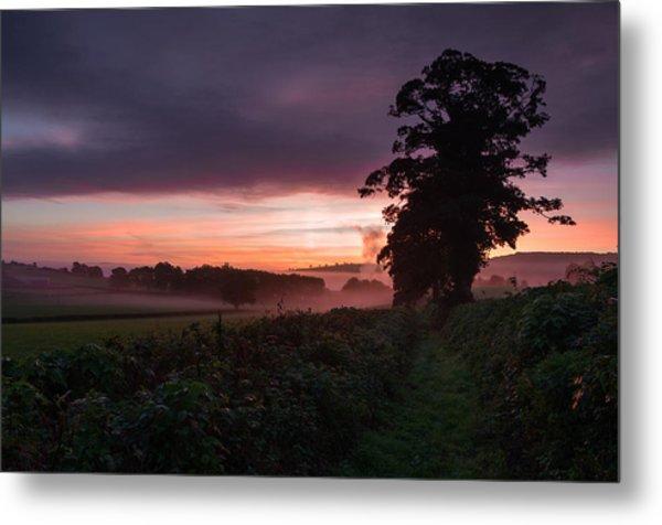 Hele Payne Farm At Dawn Metal Print by Pete Hemington