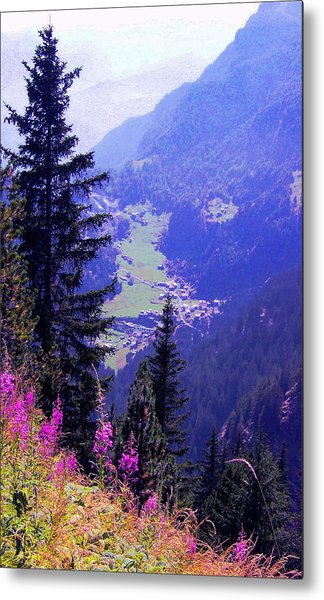 High Mountain Pastures Metal Print