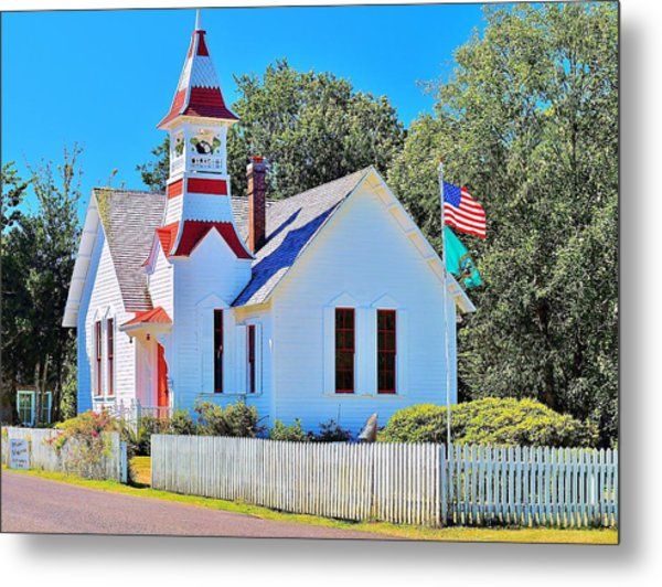Historic Oysterville Church Metal Print