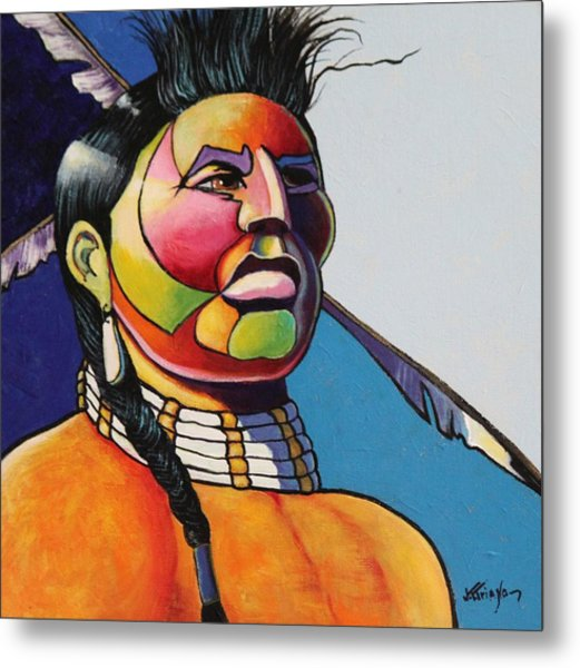 Indian Portrait Metal Print by Joe  Triano