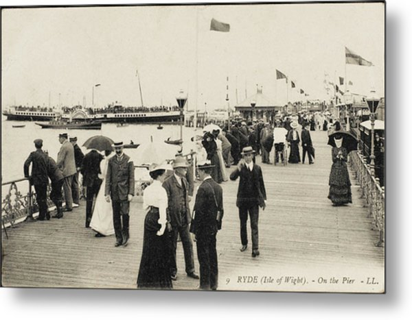 Isle Of Wight  Ryde, On The Pier Metal Print by Mary Evans Picture Library