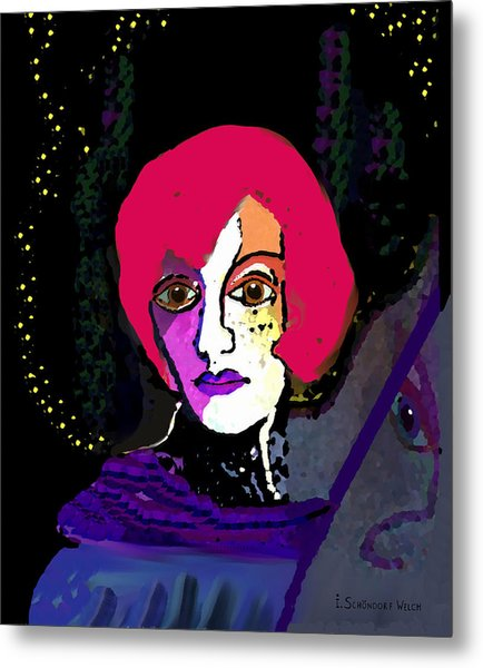 Jeanne - 924 Metal Print by Irmgard Schoendorf Welch