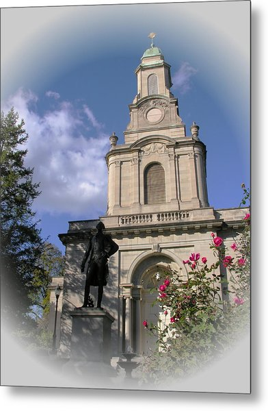 Lafayette College Easton - Roses For The Marquis Metal Print by Jacqueline M Lewis