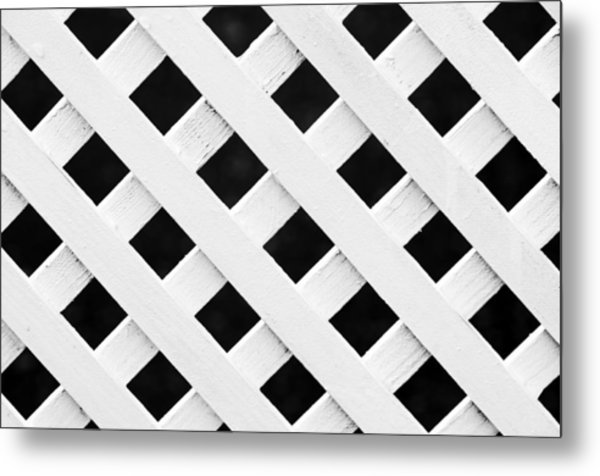Lattice Fence Pattern Metal Print