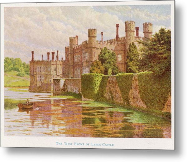Leeds Castle, Kent         Date 1907 Metal Print by Mary Evans Picture Library