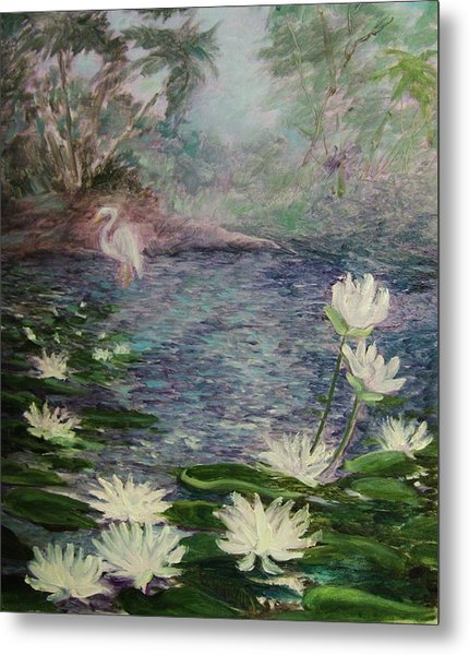 Lilies  Of  The  Pond Metal Print