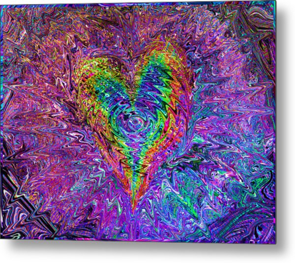 Love From The Ripple Of Thought  V 5  Metal Print