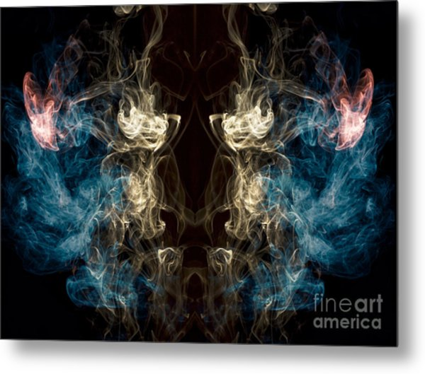 Minotaur Smoke Abstract Metal Print