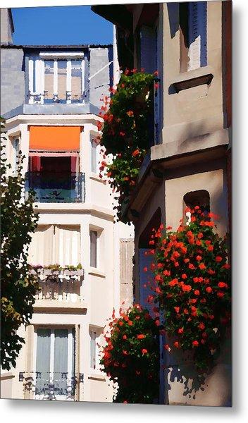 Montmartre Apartment Metal Print by Jacqueline M Lewis