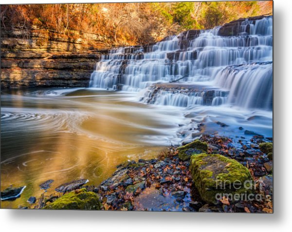 Morning Light Upper Burgess Falls Metal Print