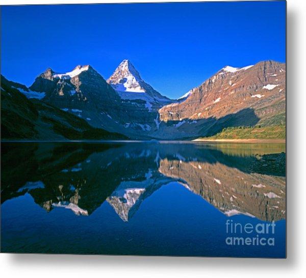 Mt. Assiniboine On Magog Lake Metal Print