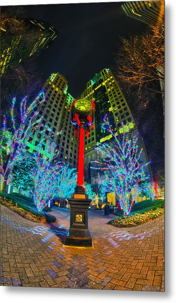 Nightlife Around Charlotte During Christmas Metal Print