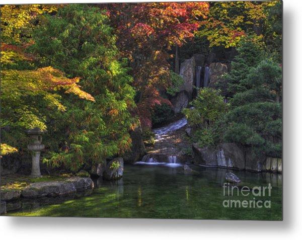 Nishinomiya Japanese Garden - Waterfall Metal Print