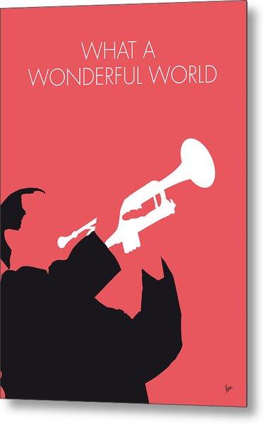 No012 My Louis Armstrong Minimal Music Poster Metal Print