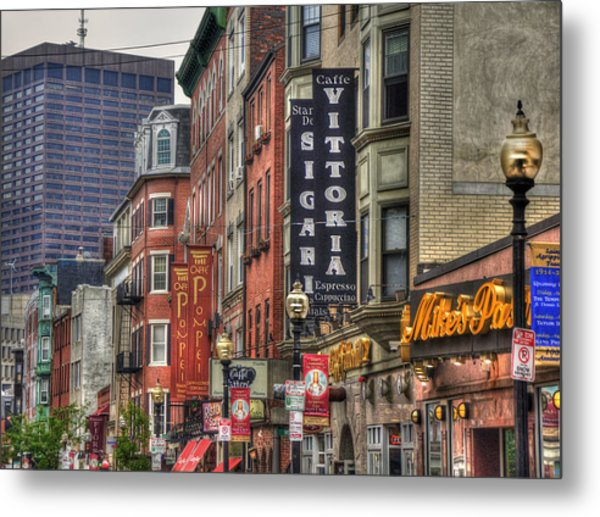North End Charm - Boston Metal Print