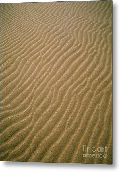 Oceano Dune Pattern Metal Print