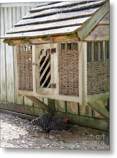 Old Fashioned Chicken Coop In Colonial Williamsburg