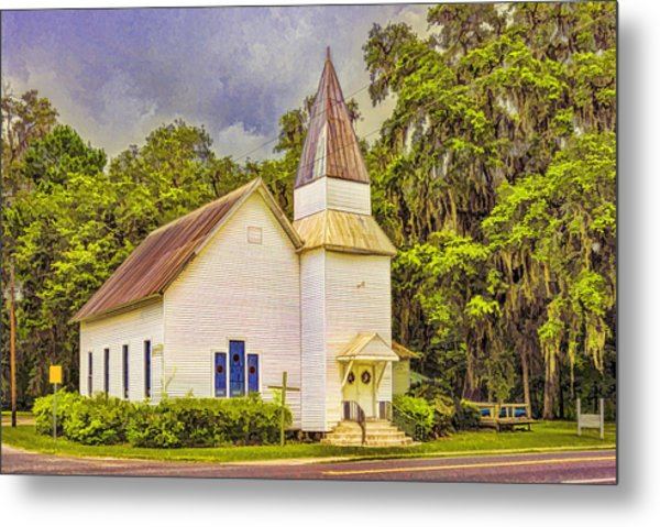 Old Rural Church Metal Print
