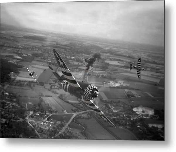 P47 Thunderbolt - D-day Train Busters Metal Print