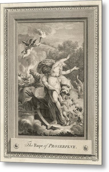 Persephone Is Abducted By  Hades Metal Print