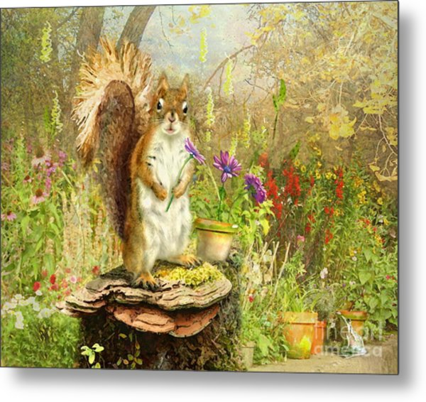 Picking Fresh Flowers Metal Print