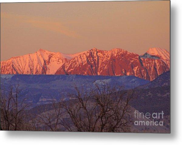 Radiant Ragged Mountain Evening Co II Metal Print