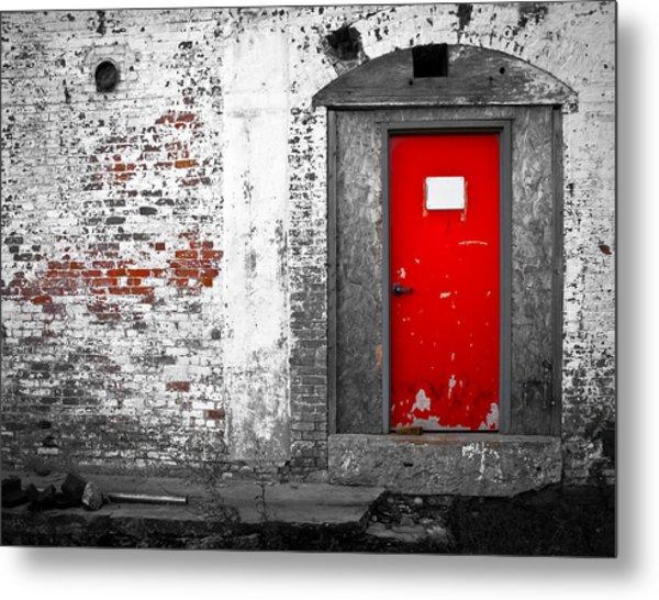Red Door Perception Metal Print