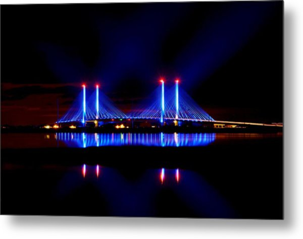 Reflecting Bridge - Indian River Inlet Bridge Metal Print