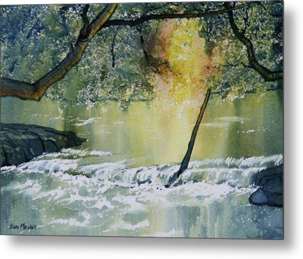 River Esk In Full Flow Metal Print
