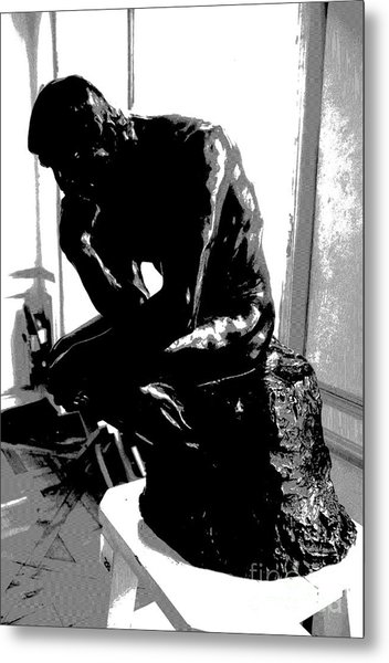 Rodin  -  The Thinker Metal Print by Jacqueline M Lewis