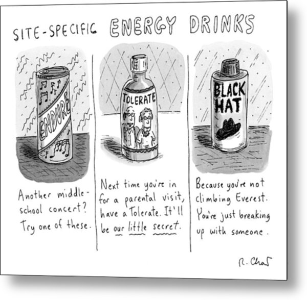 Site-specific Energy Drinks A Series Of Energy Metal Print