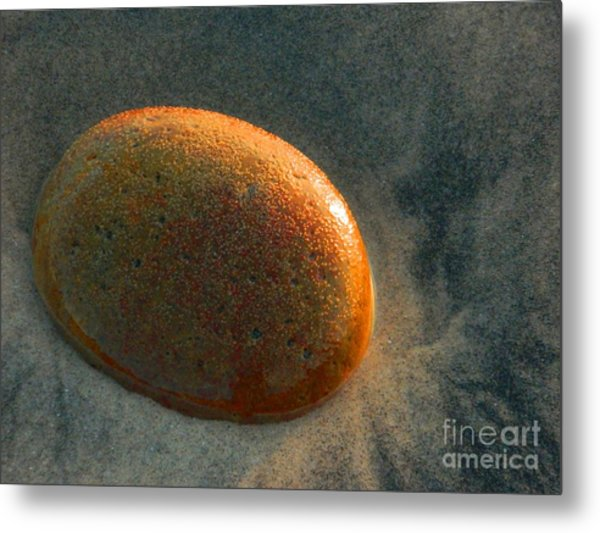 Smooth Stone Metal Print