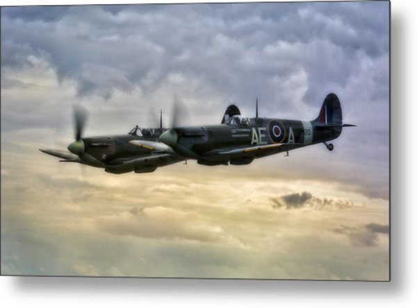 Spitfires Double Trouble Metal Print